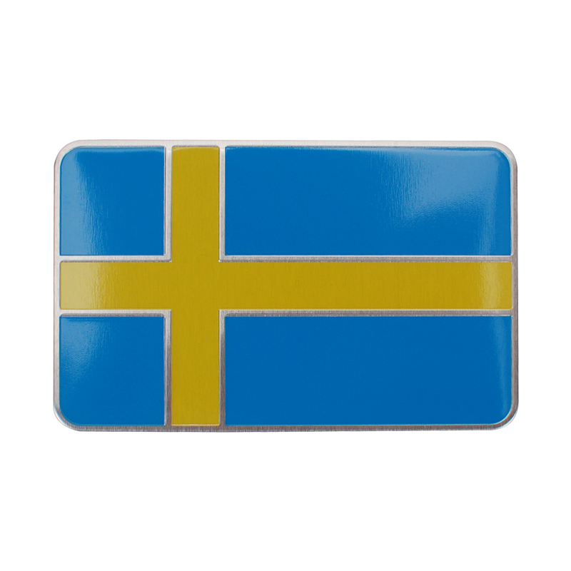 8*5CM Aluminum Car Badge Accessories for Flag of Sweden Logo Auto Emblem Sticker for Vol ...