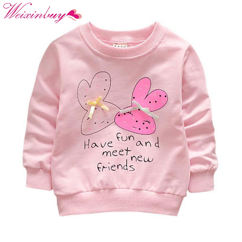 T-Shirts Long-Sleeve Girls Spring Toddler Autumn Baby Winter Kids Cotton New-Arrival