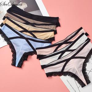 02ae304131 Seedrulia Sexy panties Women s Cotton Briefs Underwear