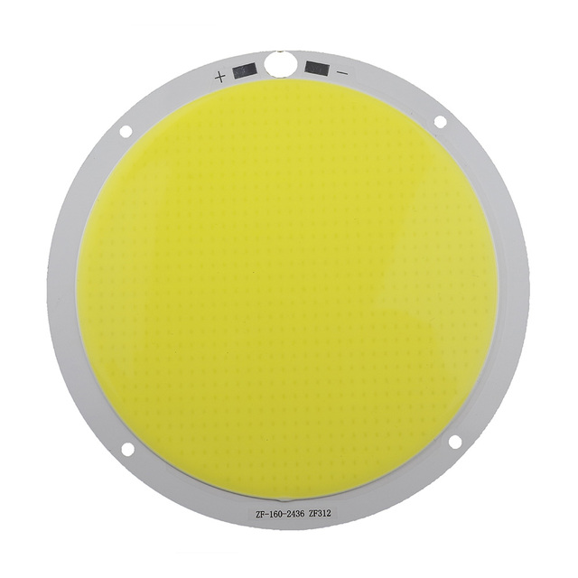 Super bright Round 300W DC72V COB LED White Strip PCB Light Lamp source Chip 160MM 4000ma for DIY Spotlight lighting project 1pc