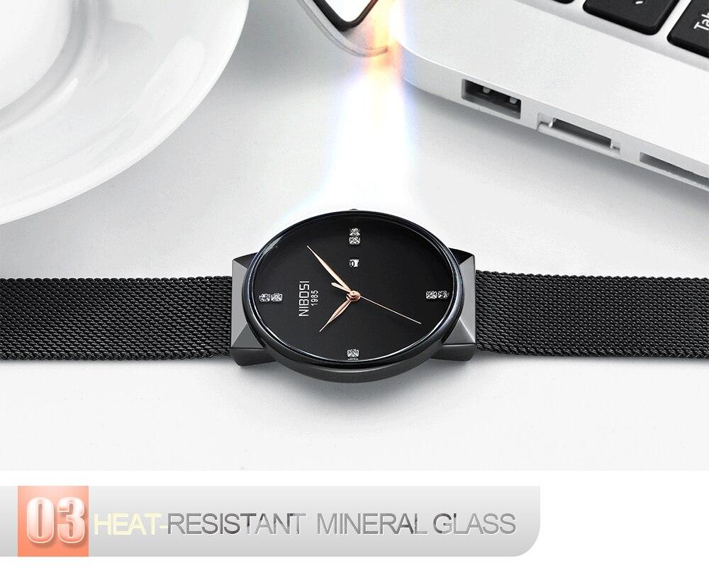 NIBOSI 2018 New Fashion Simple Watch Slim Mesh Band Mens Dress Watches Top Brand Luxury Male Relogio Masculino Quartz Wristwatch (9)