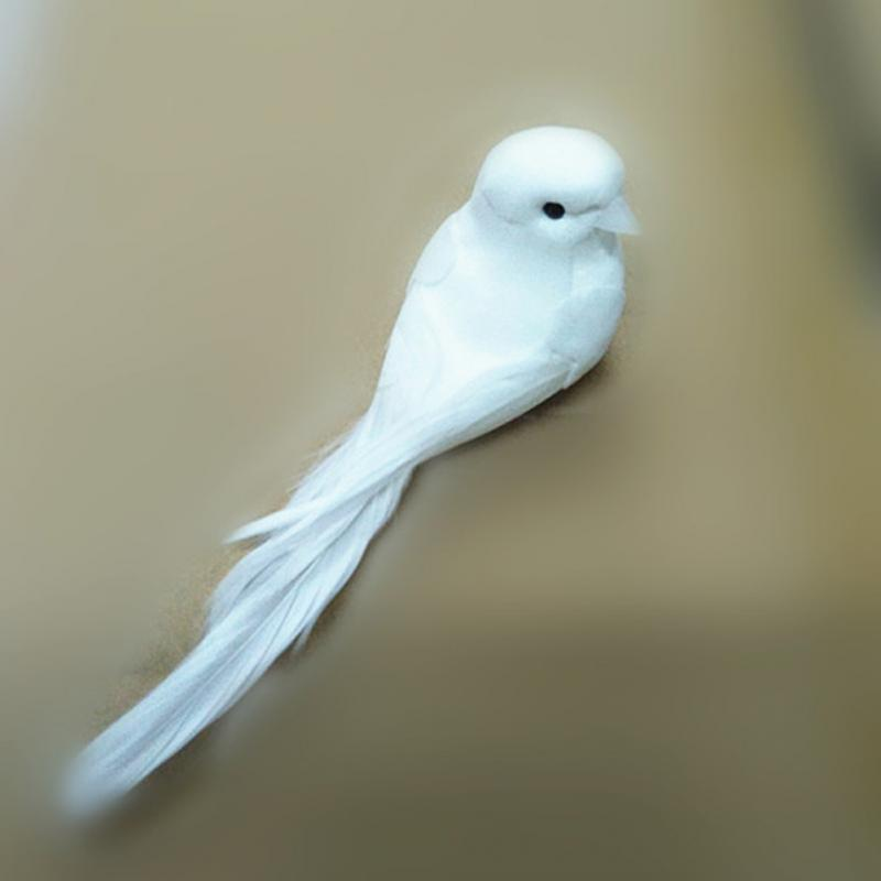 1Pc Wedding Decorative Doves Artificial Foam Feather Mini White Birds Craft Wedding Party Birds Decor Home Ornaments