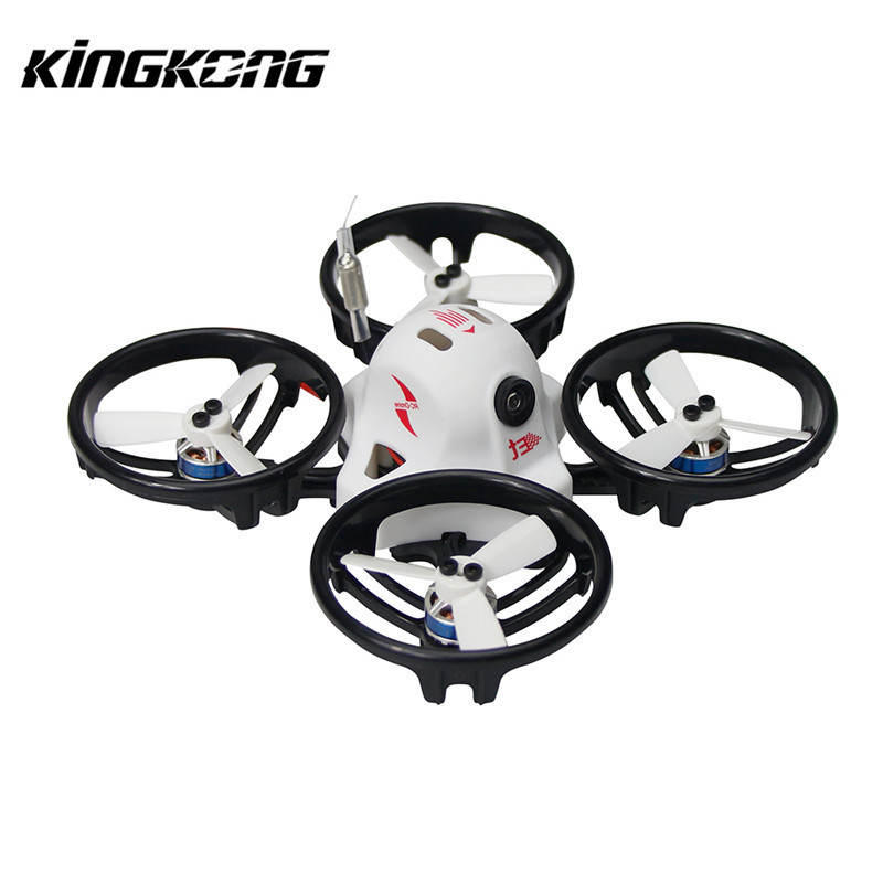 Kingkong ET Series ET125 125mm Micro FPV Racing Drone 800TVL Camera 16CH 25mW 100mW VTX RC Quadcopter BNF VS Tiny 6 X7 kingkong 90gt 90mm brushless mini fpv racing drone with micro f3 flight controll 16ch 800tvl vtx forbnf rtf with frsky x7 x9d