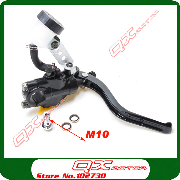 все цены на High quality Dirt Pit Bike ATV Quad Motorcycle Right front brake pump Refit Brake master cylinder pump free shipping онлайн