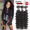 Brazilian Deep Wave Human Hair Extensions 8-28 Inches Unprocessed Brazilian Deep Wave 3Bundles Brazilian Virgin Hair Top Selling