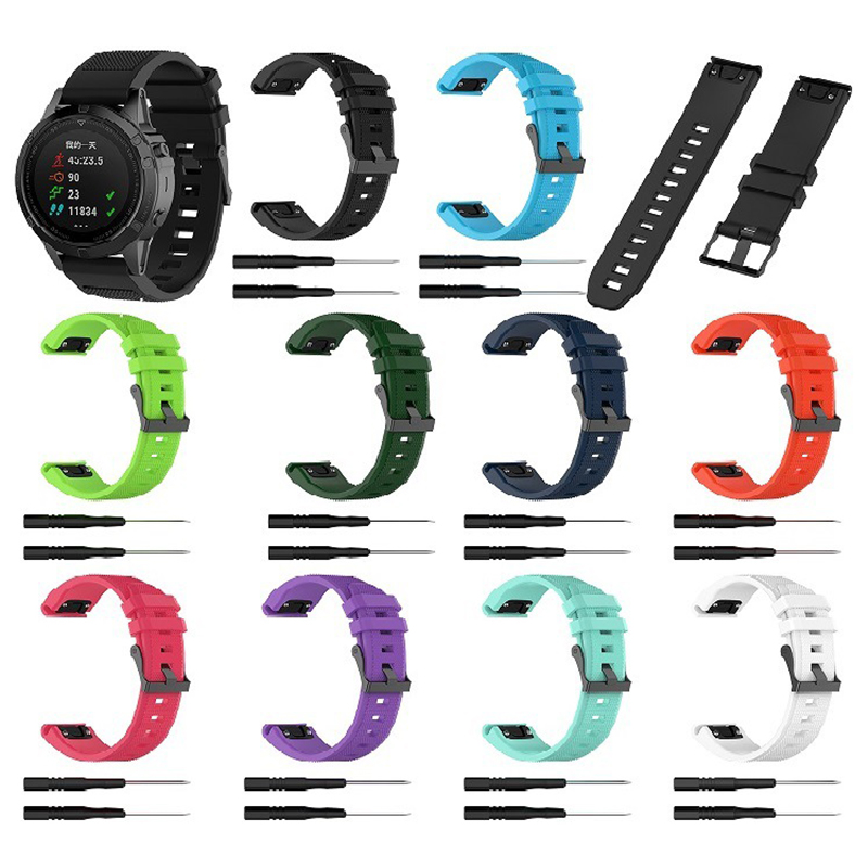 22mm Watchband for Garmin Fenix 5 5 Plus Forerunner 935 Watch Quick Release Silicone Easy fit Wrist Band Strap image