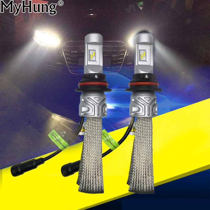 все цены на 1pair Newest Design 9007 Car LED Headlight Conversion Kit 8000LM For High Low Beam Car Fog Light DRL Source Bulbs Car-Styling