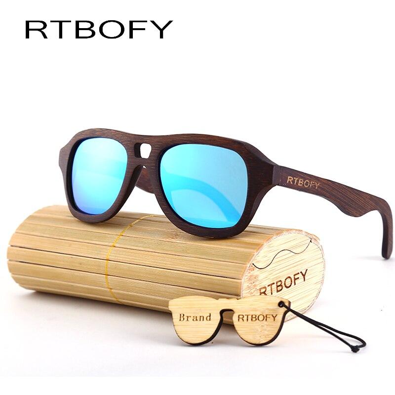 86b39daa75 RTBOFY Wood Sunglasses Men Brand Design Mirror Sun Glasses UV400 Gold  Driving Original Bamboo Sunglass Male Polarized sungl ZB88-in Sunglasses  from Apparel ...