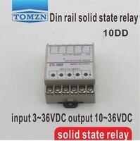 10DD 5 Channel Din Rail SSR Quintuplicate Five Input 3 36VDC Output 10 36VDC Single Phase