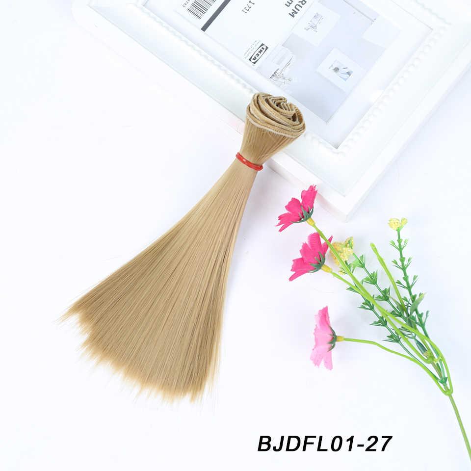 Bybrana 15*100cm peluca BJD de fibra de Temperatur sintética alta para muñeca