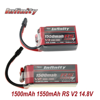 Infinity 4S LiPo Battery 1550mAh RS R5 V3 1500mAh 100C 200C 14.8V With SY60 XT60 Plug RC Lipo Battery
