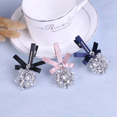 free shipping 2017 Fashion headdress decoration creative crystal flower ball hairpin