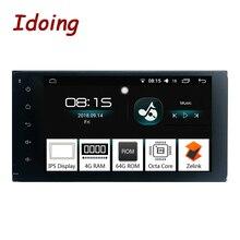 Idoing 7 «2 Din Android 8,0 автомобиль радио GPS; Мультимедийный проигрыватель для Toyota универсальный ips экран 4 г оперативная память 64 Встроенная Восьмиядерный навигации