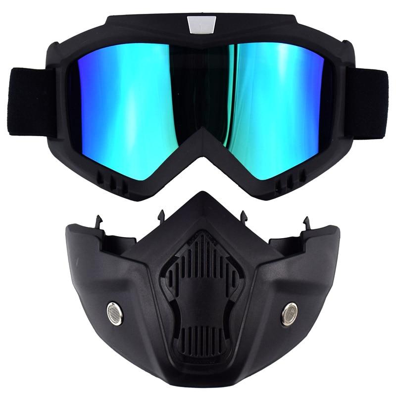 MJMOTO Motocross Helmet Mask Glasses Mens Womens Windproof Motorcycle Mask Goggles Off-road Moto Skiing MTB Snowboarding Gafas