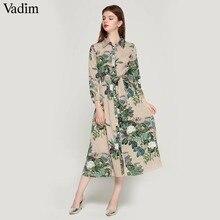 Платье Vadim женское, винтажное, с длинным рукавом, в полоску, с бантом и поясом