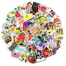 50pcs Funny Doodle Cartoon Cute Sticker Colorful Anime Laptop Fridge Luggage Suitcase Bicycle Graffiti For Kids
