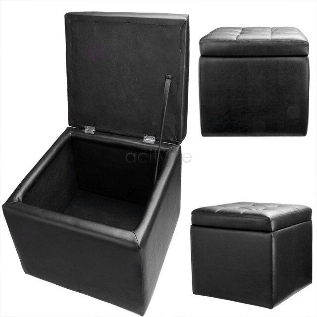 Nuovo nero di modo pouf scatola di immagazzinaggio salotto camera ...