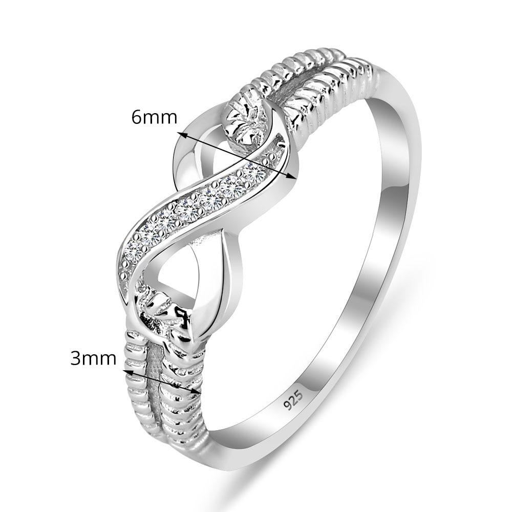 Evighet Ring Förlovningsringar Sterling Silver 925 Ringar För - Märkessmycken - Foto 2