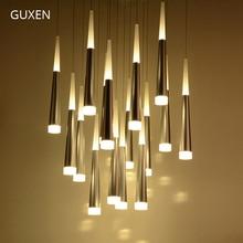 GUXEN 36 Head Led pendant light 110V 220V Aluminum acrylic Meteor shower LED light Simple and stylish for Hotel Restaurant guxen hero hulk head