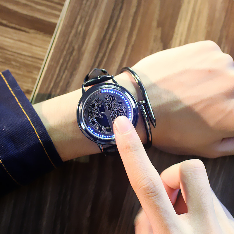 HTB1IFEfhVooBKNjSZFPq6xa2XXa6 - New Casual Fashion Elegant Lady Quartz Bracelet Women Wristwatch LED Jewel Lucky Clover Stainless Steel Case Montre Femme