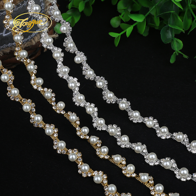 1 Yd Alloy Chain Pearl Základní Oblečení Ozdoba Ozdoba - Umění, řemesla a šití