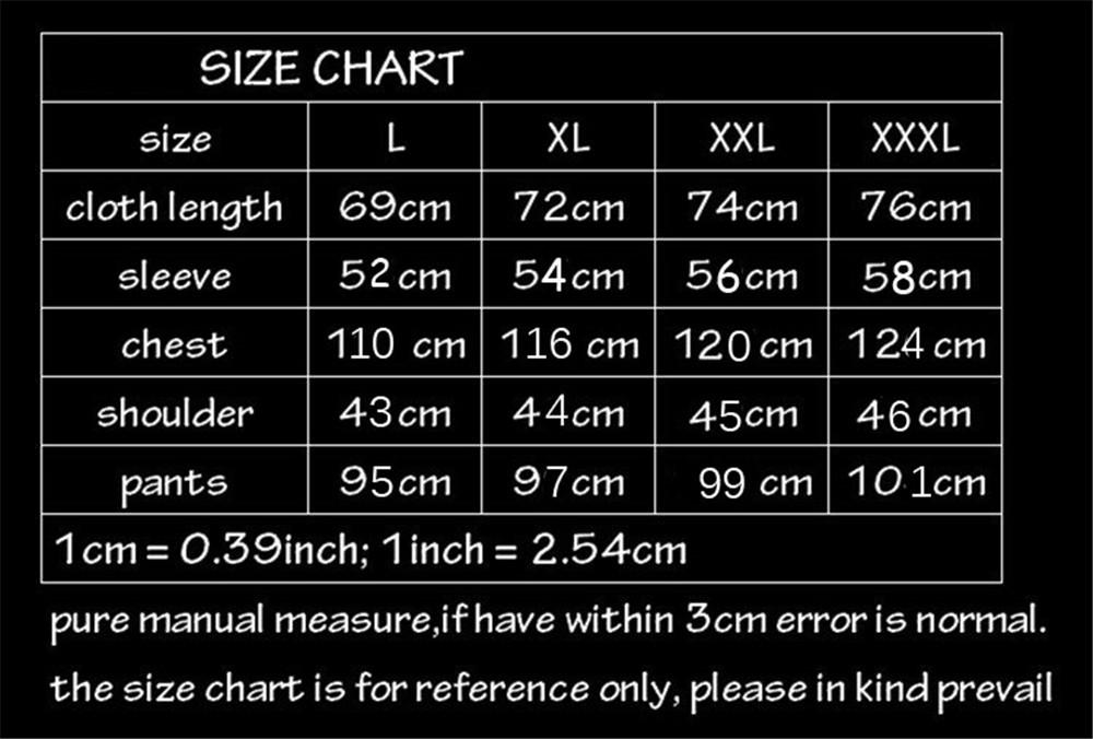 size chart 100001