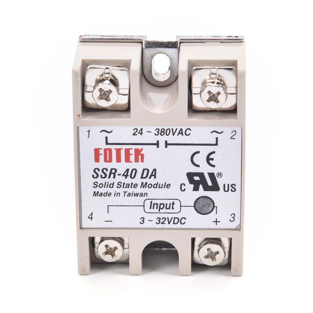 1pc 3-32VDC to 24-380VAC <font><b>SSR</b></font>-40DA Solid State Relay Module <font><b>SSR</b></font>-<font><b>40</b></font> <font><b>DA</b></font> <font><b>SSR</b></font> 40A for PID Temperature Controller Voltage Transformer image