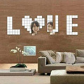 Acrylic 3D Wall Sticker 100 Pcs 2x2cm with Mirror Effect Sofa Room DIY Wall Art Decal Home Decoration Sticker Supplies 8Z