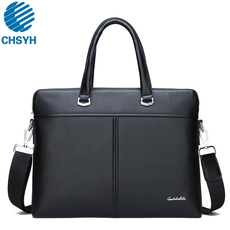Men's Business Handbags Gentlman Embossed Leather New Style Men's Cross Section Computer Hand Shoulder Bags Men PU Briefcases