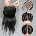 Fechamento de renda brasileira nós descorados 8A virgem fechamento cabelo 4 * 4 fechamento direto brasileiro 3 / médio / parte livre fechamento