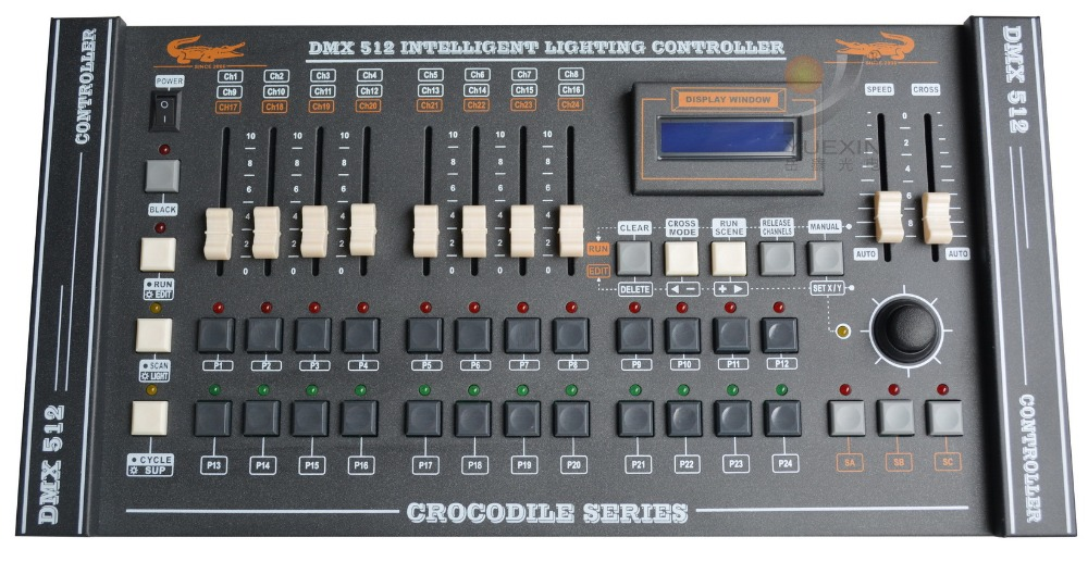 CROCODILE 2416 Console stage lighting dmx rgb led programming console dmx 512 computer lighting controller-in Stage Lighting Effect from Lights u0026 Lighting ... & CROCODILE 2416 Console stage lighting dmx rgb led programming ...