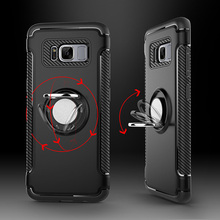 Magnetic Car Holder Bracket Luxury Case For Samsung