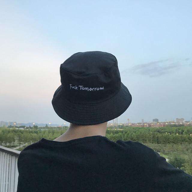 2018 new Fashion Bucket Hat Letter Embroidery Fisherman Hats Men Women  Cotton Street Hip Hop Bucket Hat Fishing Cap ba6426835703