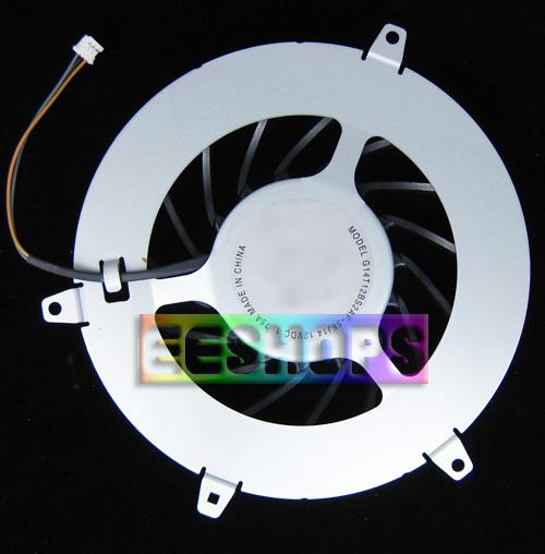 Original interna del ventilador de refrigeración 15 cuchillas para sony ps3 1000 primero Gen Fat Consola de 20 GB 60 GB de Repuesto Repuestos Envío gratis