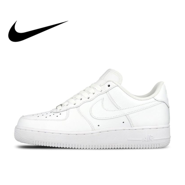 purchase cheap f32c2 062ba Original Official Nike AIR FORCE 1 AF1 Men Breathable Skateboarding Shoes  Low top Trainers Sports Flat Classic Outdoor Sneaker-in Skateboarding from  Sports ...