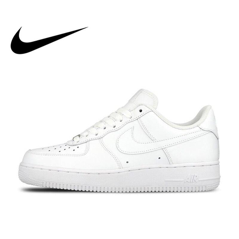 Ufficiale originale Nike AIR FORCE 1 AF1 Uomini Traspirante Scarpe da pattini e skate Low-top scarpe Da Ginnastica di Sport Piatto Classico della Scarpa Da Tennis All'aperto