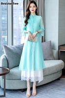2019 summer japanese ao dai three quarter kimonos direct selling polyester women ao dai sleeve vietnam aodai cheongsam dre