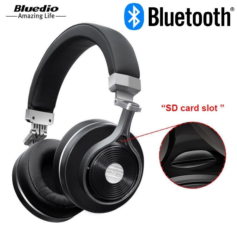 Bluedio T3 Plus casque/casque Bluetooth sans fil avec Microphone/Micro SD
