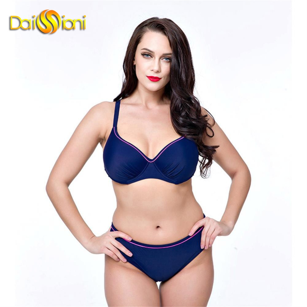 ФОТО Womens Bathing Suit 2017 Sexy Solid Black Bikini Set Push Up Swimwear Women Large Size Swimsuits Beach Wear Sport Swim Suits xxl