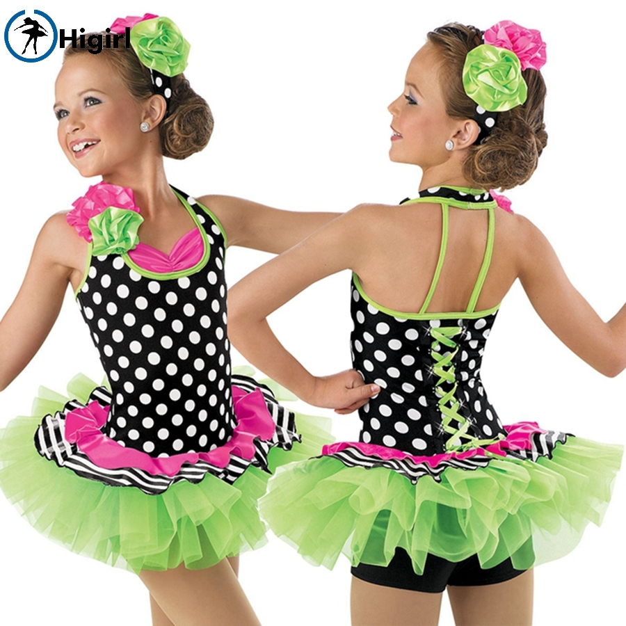 kid stage performance dance costume ballerina girl tutu Colorful child dance costume ballet tutu BL0005