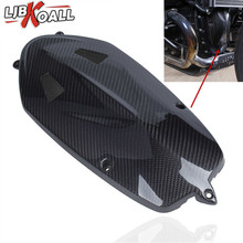 For BMW R NINE T Motor Radial Breast Plate Boxer Breast Engine Case Cover R Nine T 2013 2014 2015 2016 2017 Real Carbon Fiber nirve forty nine 2015