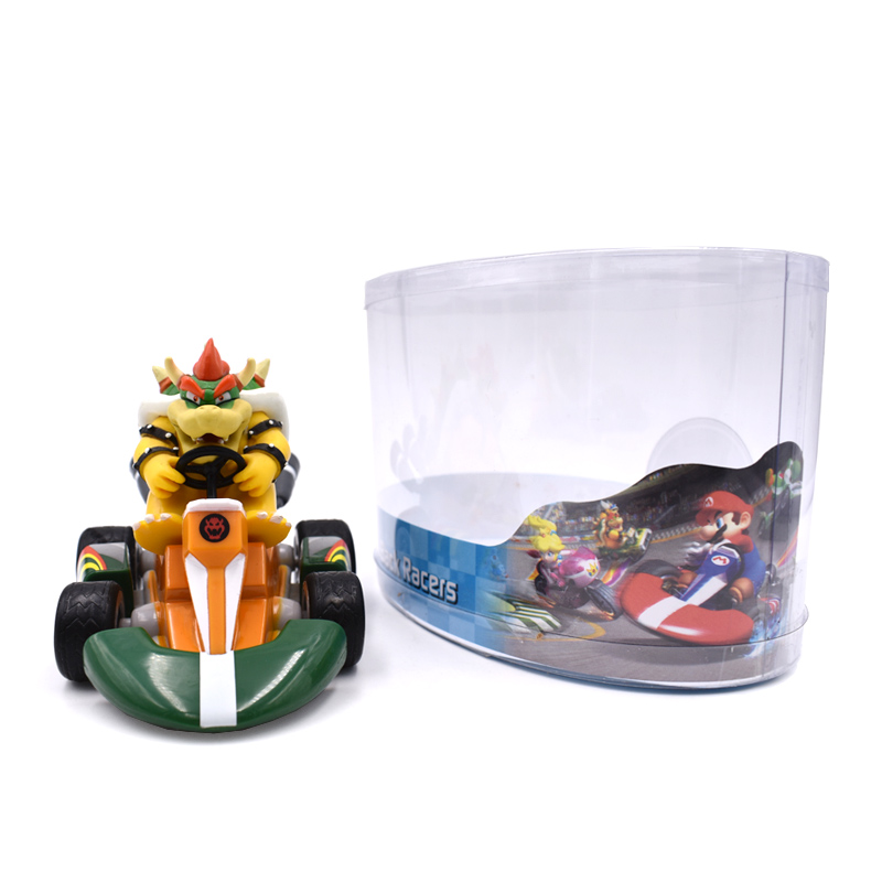 9cm Super Mario Bros Kart Pull Back Car Figure Toys Anime Mario Luigi Yoshi Donkey Kong Bowser Princess Toad PVC Figma Model in Action Toy Figures from Toys Hobbies
