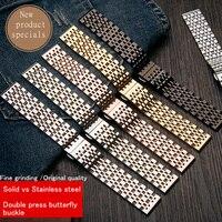14 16 18 19 20 21 22mm en acier inoxydable bracelet de montre pour casio Seiko citoyen iwc dw Solide bande en acier À Double pression