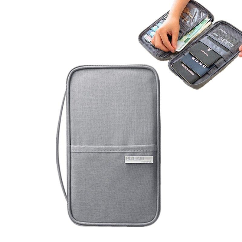 Travel Accessory Passport Cover Holder Women Men Multi-function Credit ID Card Bag Large Organizer Document Storage Money Wallet