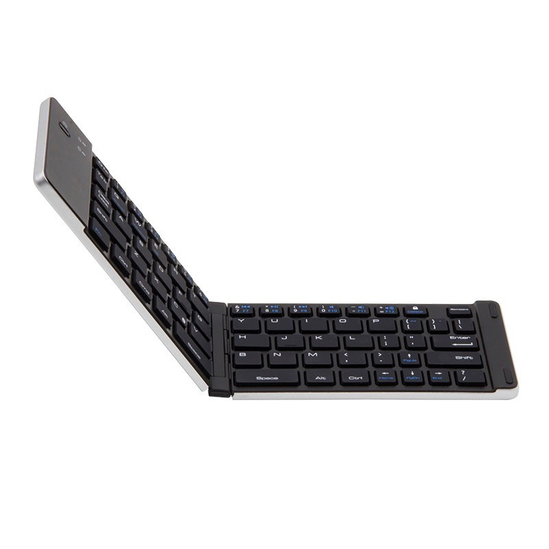 Universal Bluetooth 3.0 Folding Mini Wireless Foldable Aluminum Alloy Keyboard For IPhone iPad iOS Android Smartphone Tablet защитное стекло borasco full cover для samsung galaxy a5 2017 a520 белая рамка