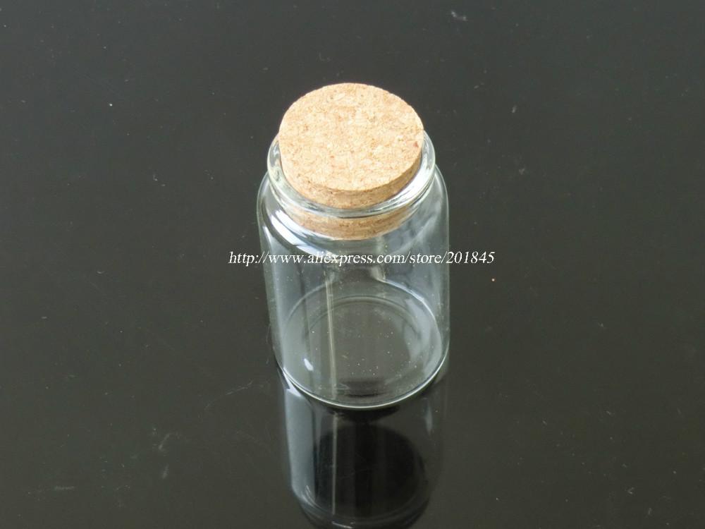Wholesale 50Pcs Tiny Glass Bottles Cork Empty Cute Transparent Glass Bottle Jars Vials 47*70*33mm 80ml 50ml x 6 empty clear glass decoration bottle with wooden cork printing display wishing bottles cork stopper glass container