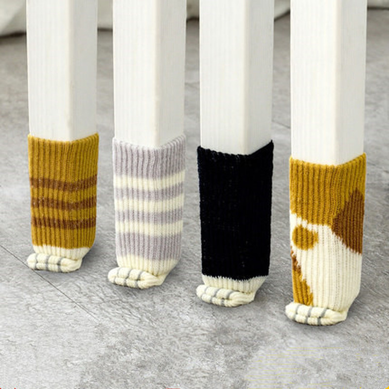 Cat Claw Chair Leg Socks Table Protector Thick Wear-resistant Mute Non-slip Chair Foot Cover Leg Protector Furniture Cover