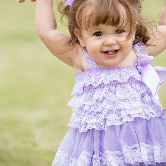 Baby Mädchen Kleidung Blume Mädchen Spitze Kleid Neugeborenen Taufe ...