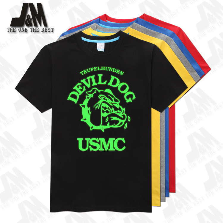 <font><b>USMC</b></font> <font><b>T</b></font> <font><b>Shirt</b></font> US Army tshirt Tactical Combat Glow <font><b>T</b></font>-<font><b>shirt</b></font> 5 Colors S-6XL image