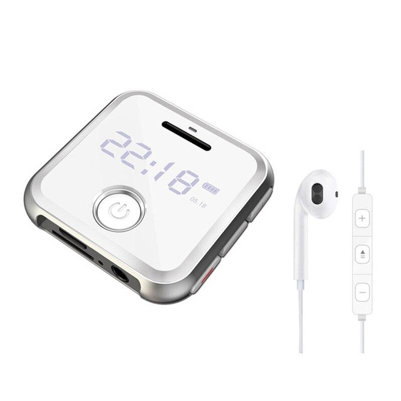 R300 Portable Clip métal sport Mini MP3 HiFi lecteur de musique 8G 0.91 pouces WAV enregistreur vocal FM Radio hifi lecteur